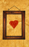 Heart in frame Royalty Free Stock Photos