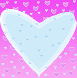 Heart of frame. On background Royalty Free Stock Photography