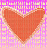 Heart of frame. On background Royalty Free Stock Image