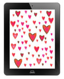 Heart of frame. On tablet Royalty Free Stock Photography