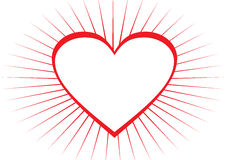 Heart frame. Red heart shape frame in white background Royalty Free Stock Photography