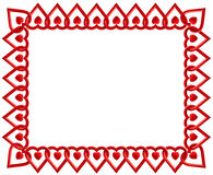 Heart Frame. Frame bordered by interlocking hearts with text space Stock Images