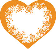 Heart frame Royalty Free Stock Photography