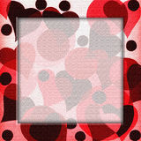 Heart frame background illustration Stock Images