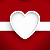 Heart frame background vector image Royalty Free Stock Photos
