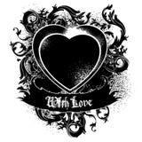 Heart frame black Stock Image