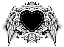 Heart frame Royalty Free Stock Image