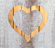 Heart frame border window wooden Royalty Free Stock Photography