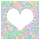 Heart frame canvas background Stock Image
