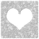 Heart frame canvas background Stock Images