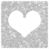Heart frame canvas background. THe heart frame canvas background vector illustration