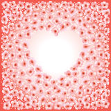 Heart frame card Royalty Free Stock Image