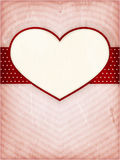 Heart frame on distressed background Royalty Free Stock Photos