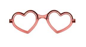 Heart frame glasses isolated on white background Royalty Free Stock Image