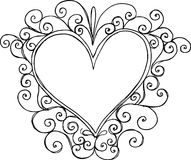 Heart Frame Illustration. On white background Stock Photography