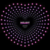 Heart frame with light effects. Royalty Free Stock Image