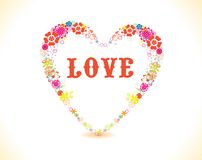 Heart frame with love Stock Image