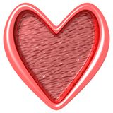Heart frame. Love Crispy frame Cg design Royalty Free Stock Images