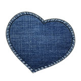 Heart frame made by jeans texture Royalty Free Stock Image