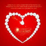 Heart frame with perls Stock Photos