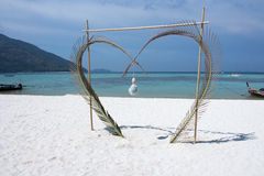 Heart frame. Frame picture heart on sand koh at lipe satun thailand Stock Images