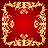 Heart frame red Greeting and ornaments vector Royalty Free Stock Image