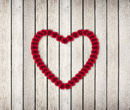 Heart Frame from red rose Royalty Free Stock Photos