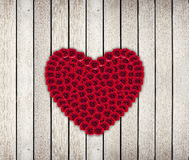 Heart Frame from red rose Stock Photography