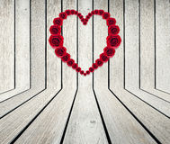 Heart Frame from red rose Royalty Free Stock Images