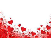 Heart frame in red with white copy-space Stock Photo