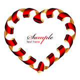 Heart frame from ribbon Royalty Free Stock Photos