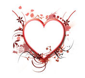 Heart frame. Romantic valentine photo frame in shape of heart Royalty Free Stock Image