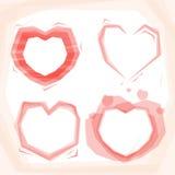 Heart frame set Royalty Free Stock Photo