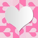 Heart frame for valentine`s day Royalty Free Stock Photo