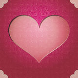 Heart frame. Valentine\'s Day Vector background Stock Photography