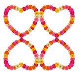 Heart frame of zinnias flower Stock Image
