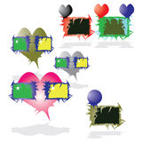 Heart and frames Royalty Free Stock Images