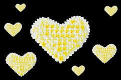 Heart from Frangipani, Plumeria, Templetree Royalty Free Stock Image
