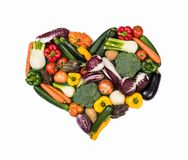 Heart of fresh vegetables royalty free stock image