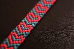 Heart friendship bracelet Royalty Free Stock Images
