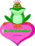 Heart_frog. Frog Prince waiting to be kissed Stock Photo