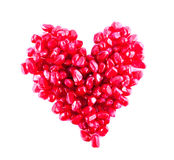 Heart From Pomegranate Stock Image