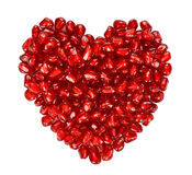 Heart From Pomegranate Seeds Stock Photo