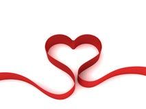 Heart From Ribbon Stock Photo
