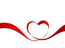 Heart From Ribbon Royalty Free Stock Photography