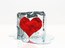 Heart frozen Royalty Free Stock Photo