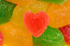 Heart from fruit jelly Royalty Free Stock Photography