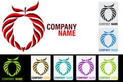 Heart fruit logo. Illustration art of a heart fruit logo with isolated background Royalty Free Stock Image