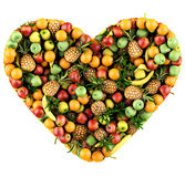 Heart of fruits. Stock Image