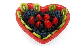 heart of fruits Royalty Free Stock Image
